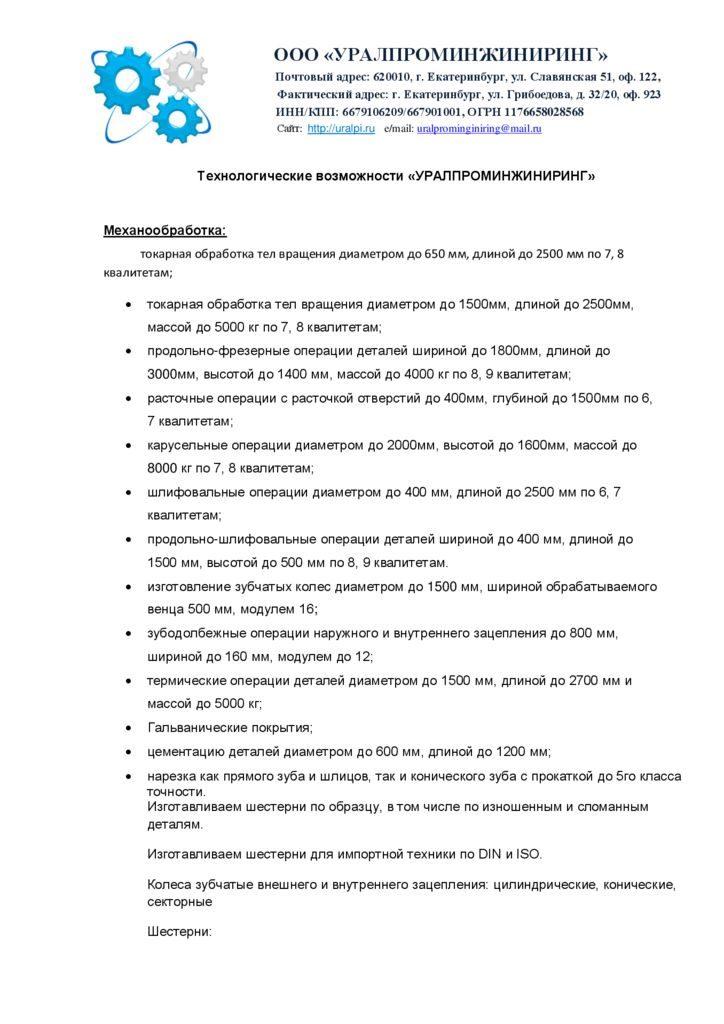 Скачать карту предприятия ООО 'Уралпроминжиниринг'